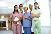 Smiling medical staff at hospital