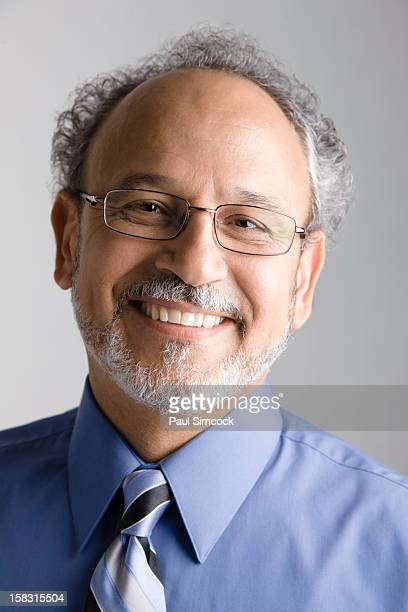 Smiling Middle Eastern businessman