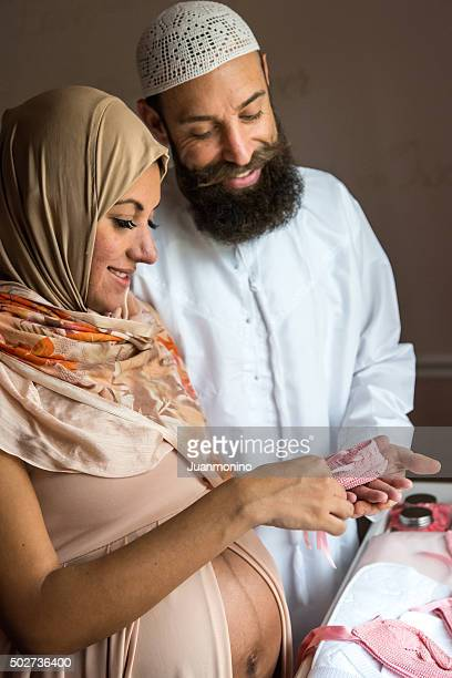 Smiling middle eastern couple