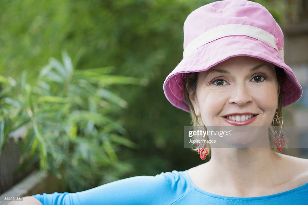Smiling middle-aged woman : Stock Photo