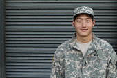 Smiling Military Asian Healthy Man.