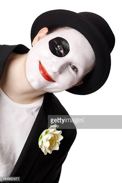 Lächelnd Pantomime
