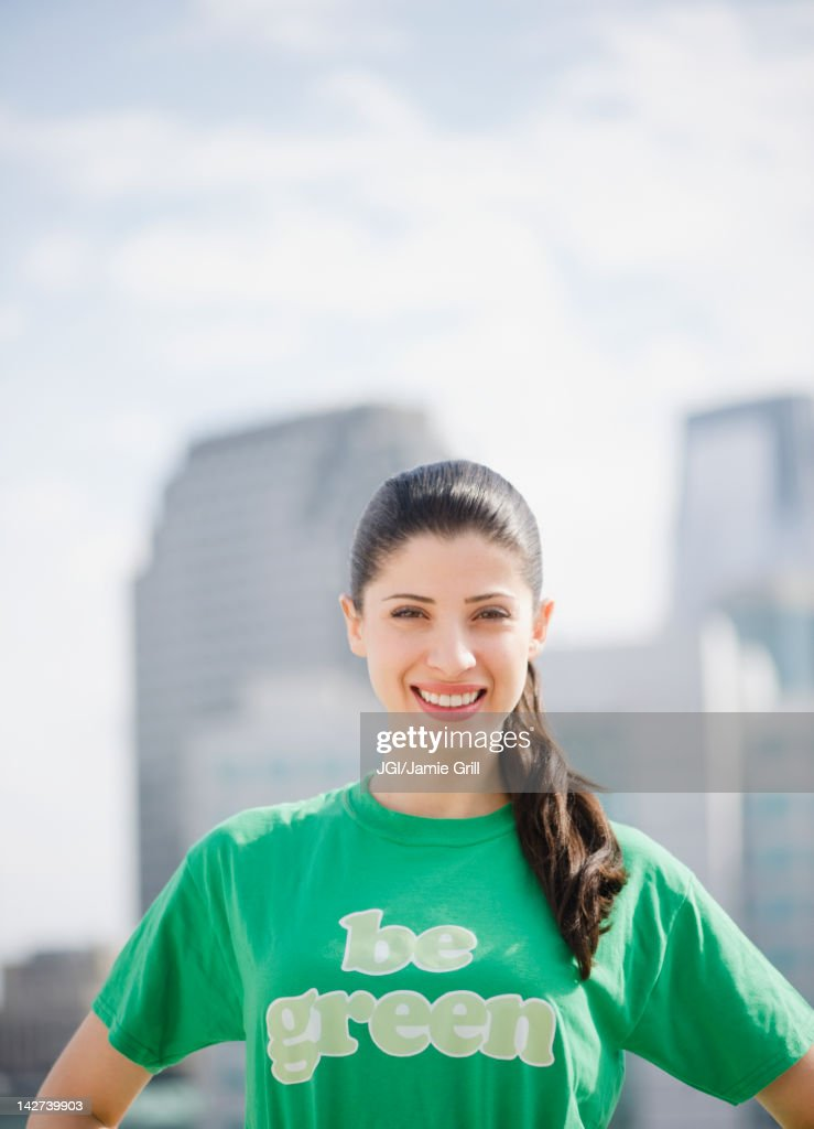 Smiling mixed race woman : Stock Photo