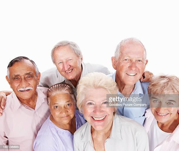 Lächelnd gemischten raced Senioren