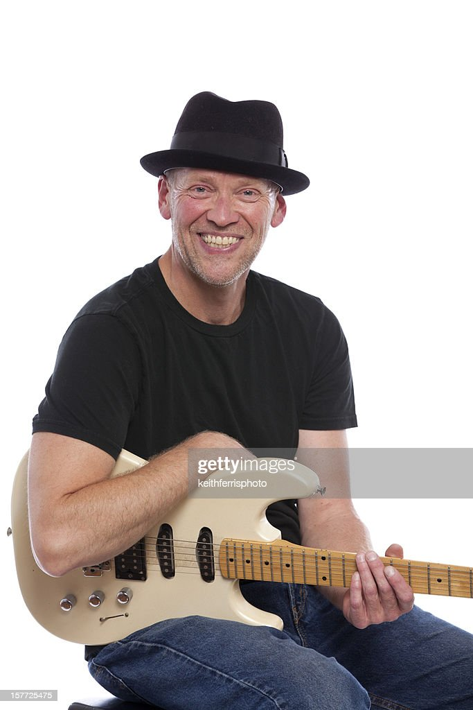 smiling musician : Stock Photo