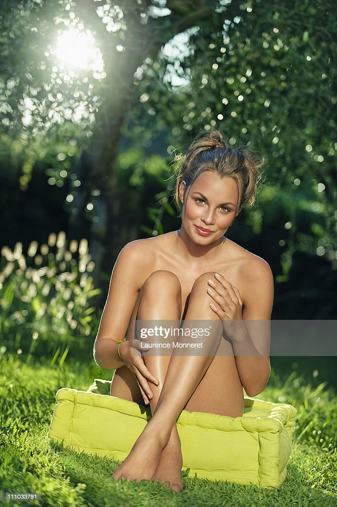 Beautiful Naked Woman On The Meadow Stock Image - Image of