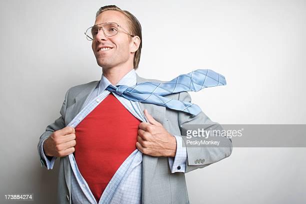 Souriant Employé de bureau Homme d'affaires de super-héros
