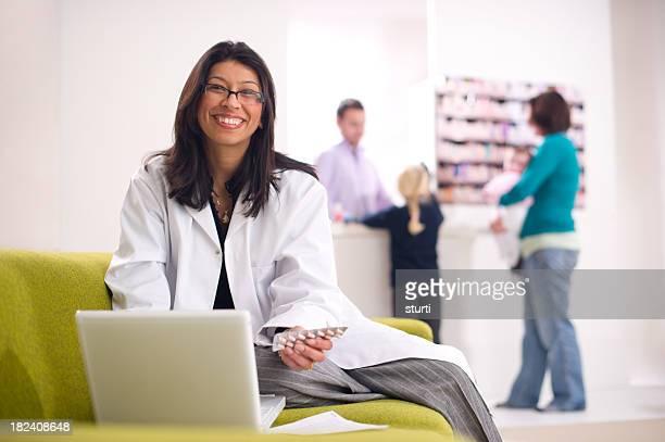 smiling pharmacist