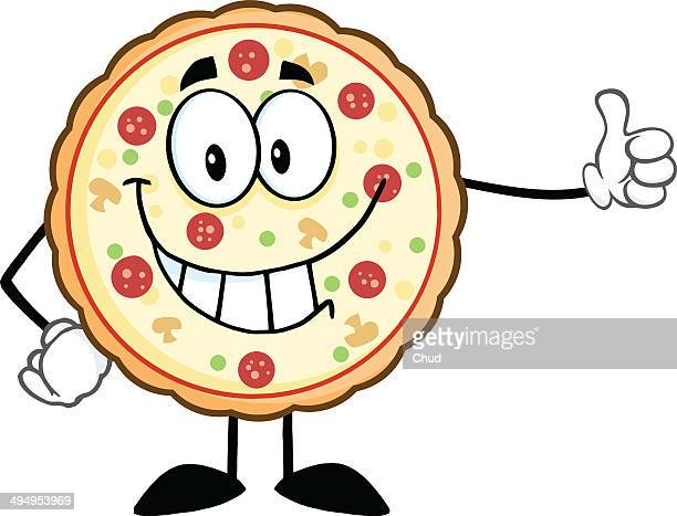 Smiling Pizza Giving A Thumb Up