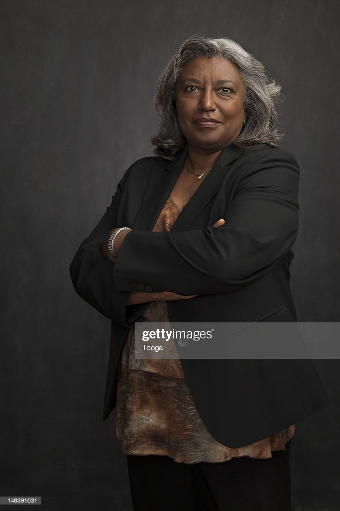 Smiling portrait of senior woman : Stock Photo