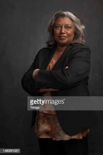 Smiling portrait of senior woman : Stock Photo