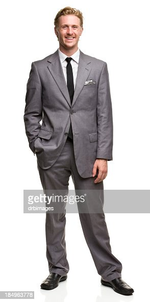 Smiling Posing Man in Suit