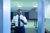 Smiling security officer