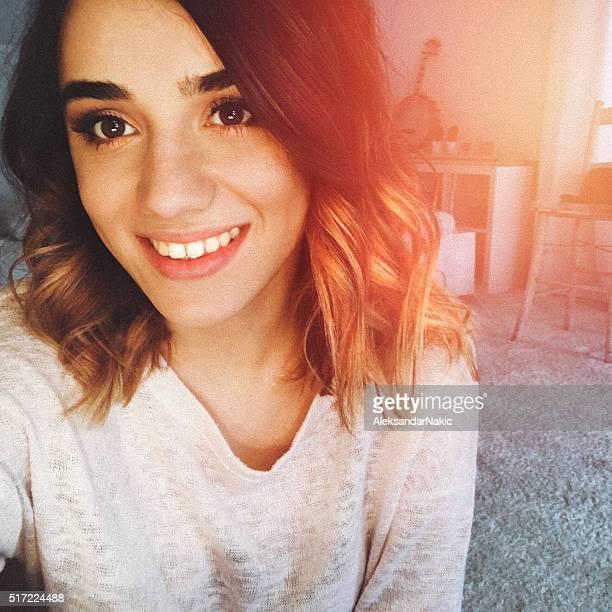 Lächeln selfie