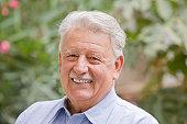 Smiling senior Chilean man