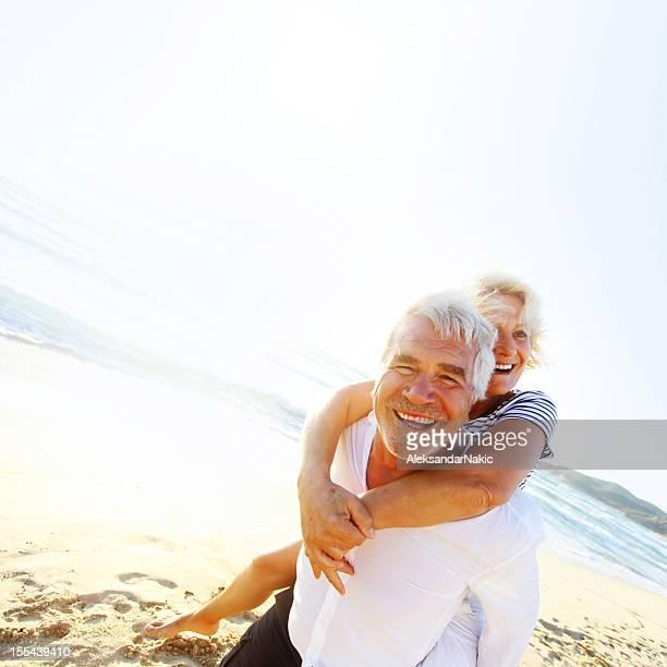 Smiling senior couple enjoying their retirement