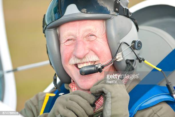 A Smiling Senior Pilot Gets Ready for Take Off.