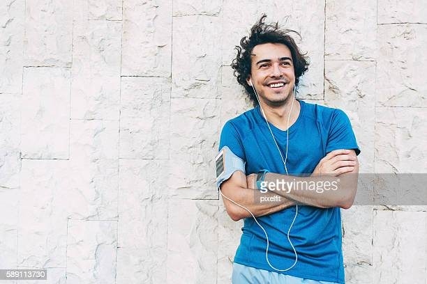 Smiling sportsman