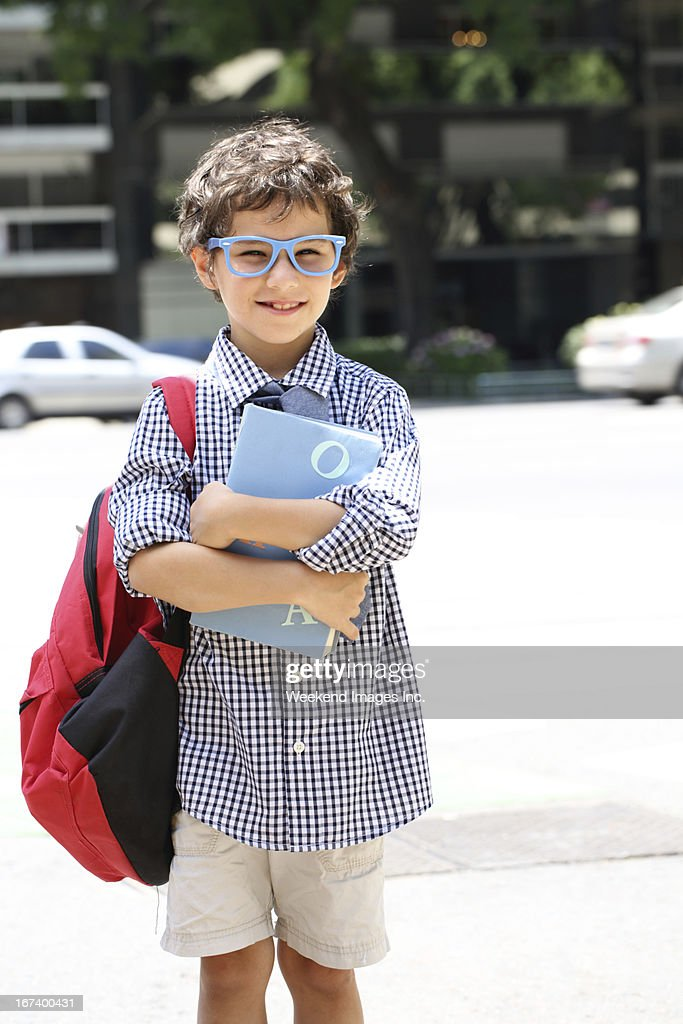 Smiling student with book : Stock Photo