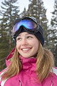 Smiling Teen on the Ski Slope