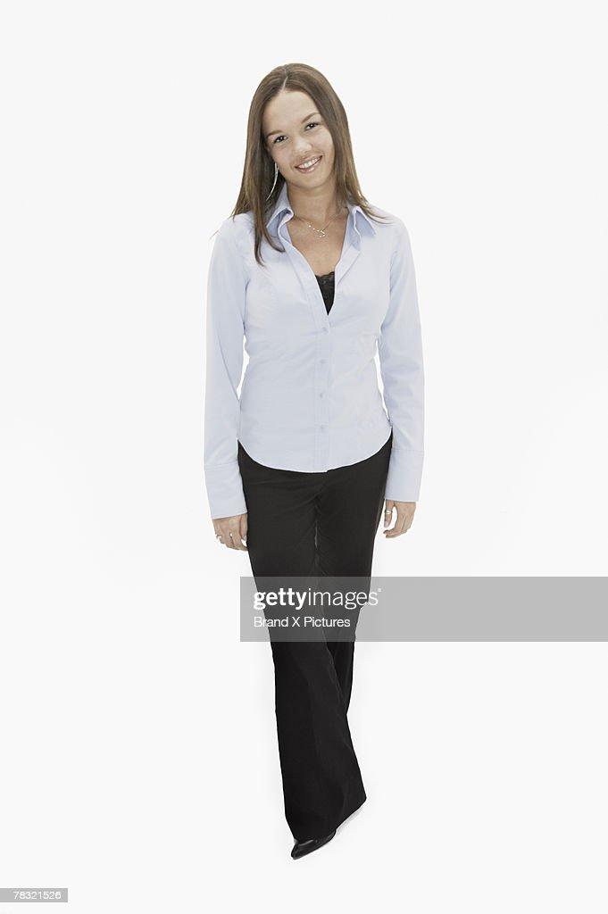 Smiling teenage girl : Stock Photo