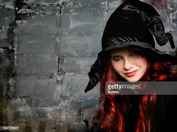 Smiling witch