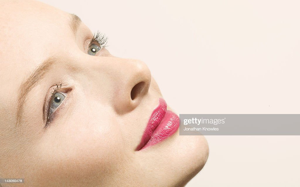 Smiling woman, close up : Stock Photo