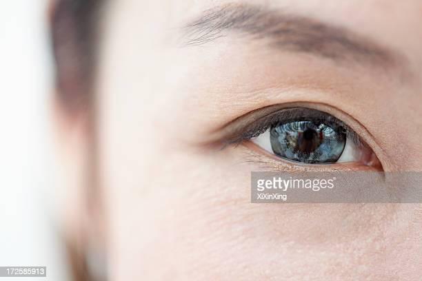 Smiling Woman Eye Close-Up