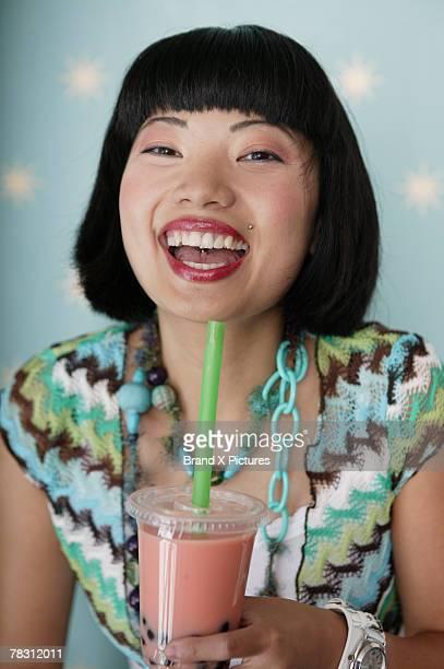 Girl Drinking Boba Tea
