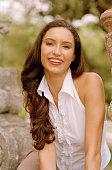 Smiling Woman in Halter Top