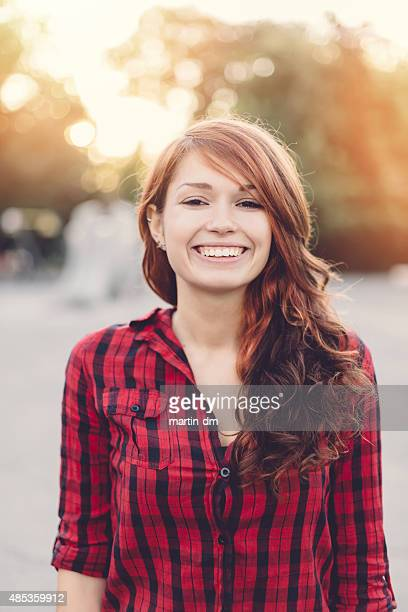 Smiling woman looking at camera