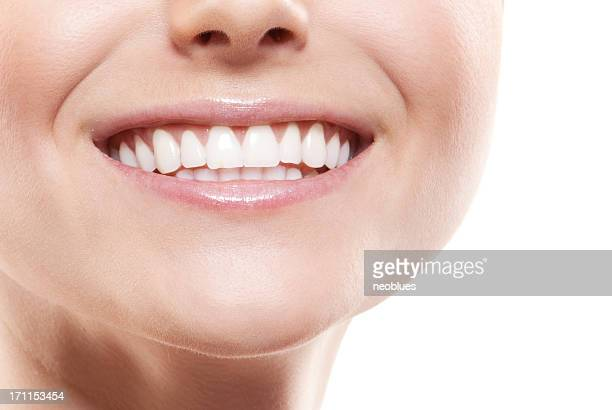 Smiling woman mouth with great teeth.