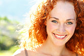 Smiling woman outdoor