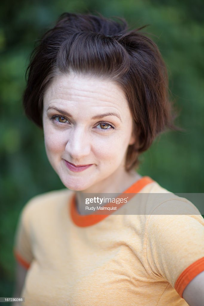 Smiling Woman : Stock Photo