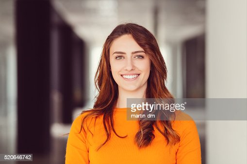 Smiling woman's portrait