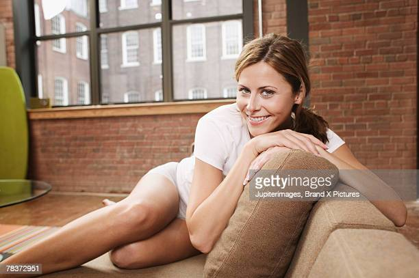 Smiling young adult woman
