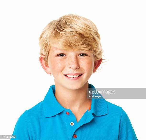 Jeune garçon souriant-isolé