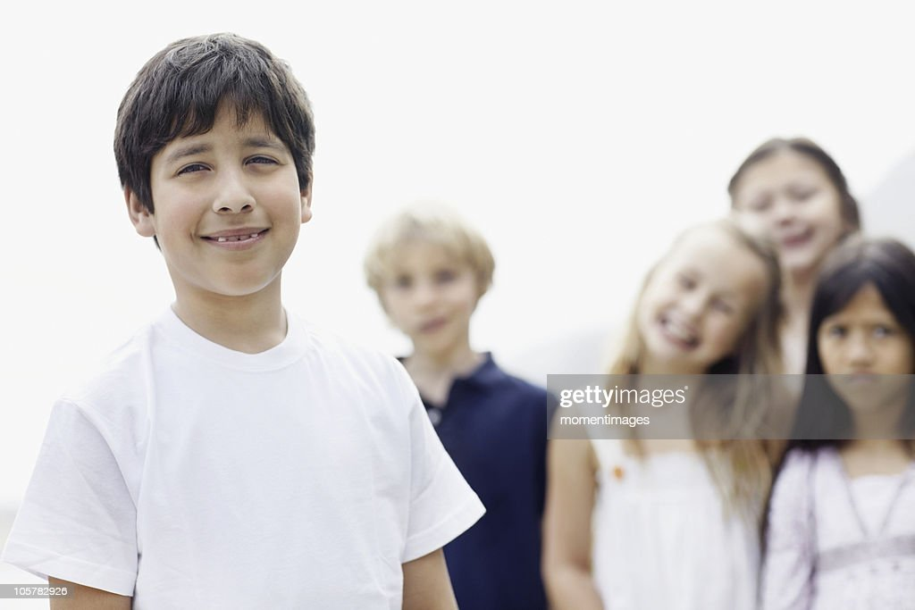 Smiling young boy : Stock Photo