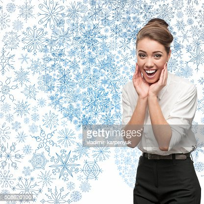 smiling young business woman : Stock Photo