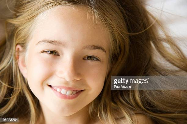 Smiling young girl.