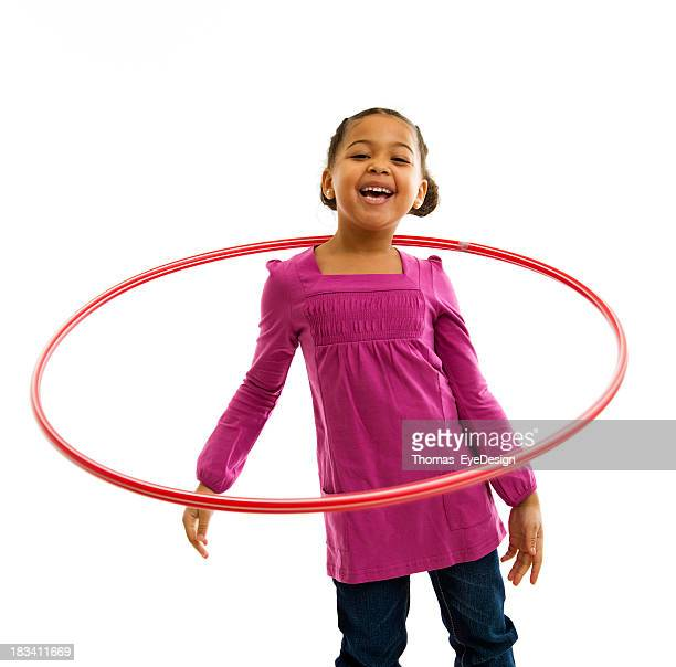 Smiling Young Girl with Hulahoop
