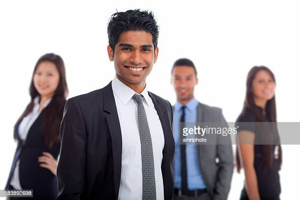 smiling young indian businessman