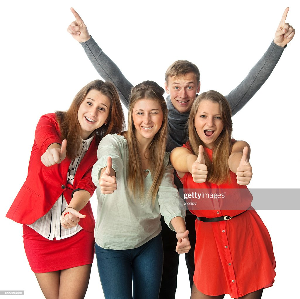 Smiling young people : Stock Photo