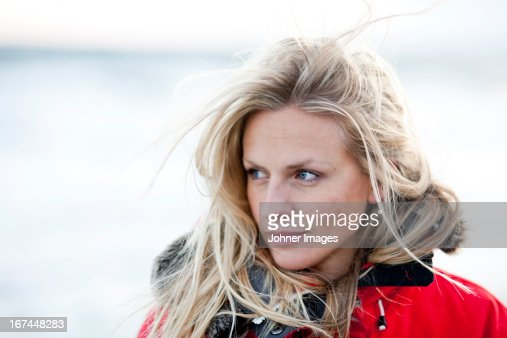 Smiling young woman : Stock Photo