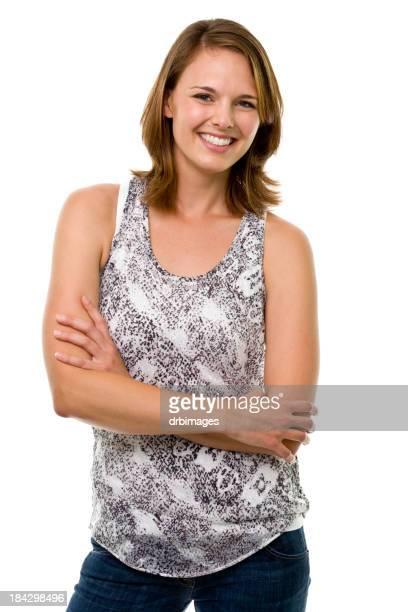 Glückliche junge Frau Posieren