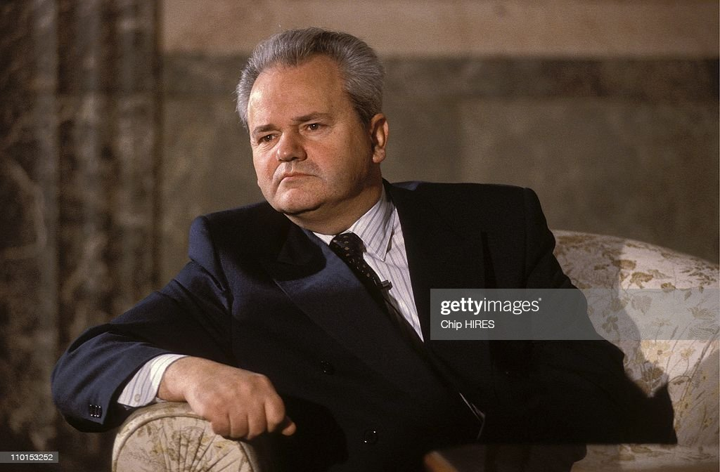 S.Milosevic in his office in Montenegro on December 13, 1992.