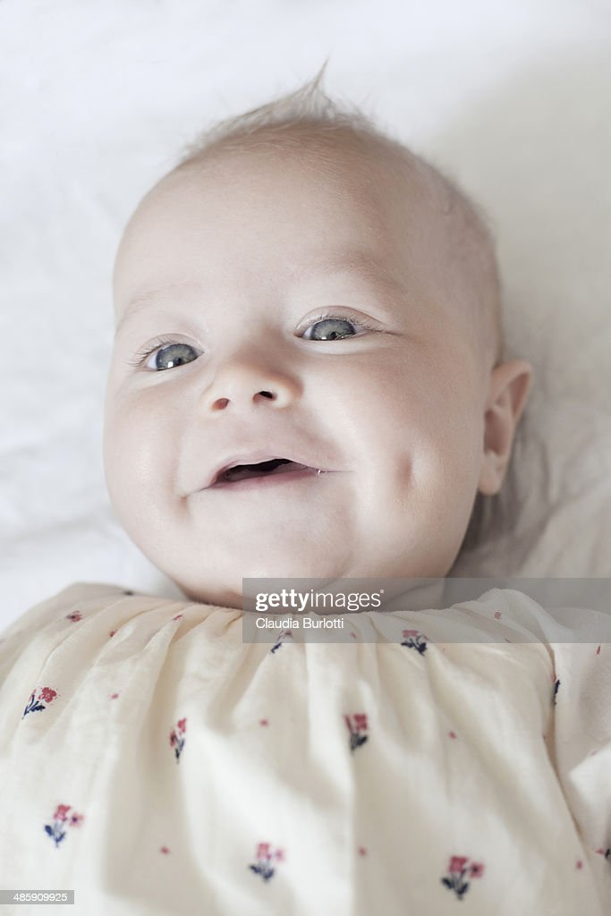 Smily baby with dimple : Stock Photo