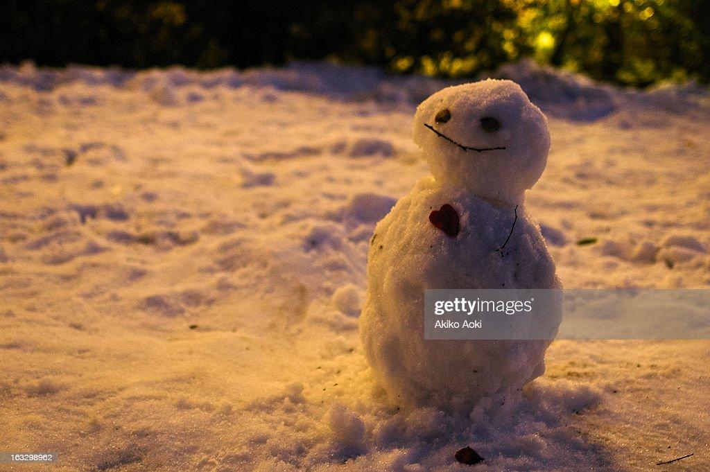 Smily snowman : Stock Photo