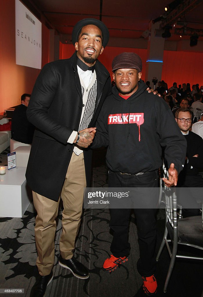 R Smith and Sway attend the 2nd Annual Alan Houston Legacy Foundation charity poker tournament at Espace on December 3 2013 in New York City