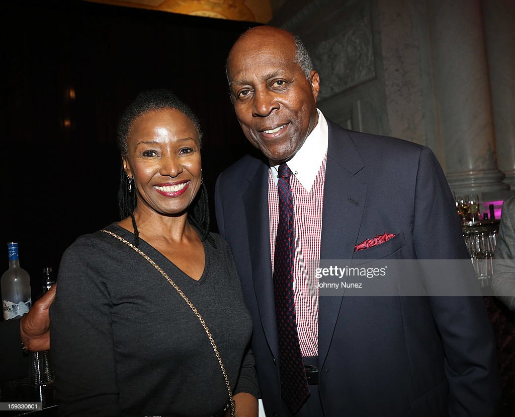 B. Smith and Vernon Jordon attend the 2013 Debra Lee Pre BET Honors Cocktails & Dinner at The Library of Congress on January 11, 2013 in Washington, DC.